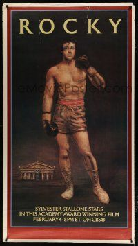 6c059 ROCKY printer's test tv poster R79 art of boxer Sylvester Stallone, boxing classic!