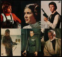 6c057 STAR WARS special 34x38 '77 portraits of Hamill, Fisher, Ford, Guinness, Cushing & Chewbacca