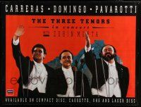 6c013 THREE TENORS 45x60 English music poster '94 cool image of Carreras, Domingo, Pavarotti!