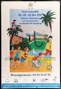 6c037 TOUS ENSEMBLE 47x69 French special '97 cool Elisabeth Bondanelli art of children!