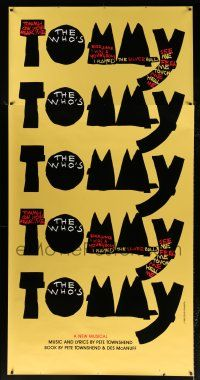 6c050 WHO'S TOMMY 42x88 stage poster '93 the music, the story, the first time on Broadway!