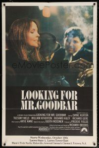 6c080 LOOKING FOR MR. GOODBAR half subway '77 close up of Diane Keaton, Richard Brooks directed!