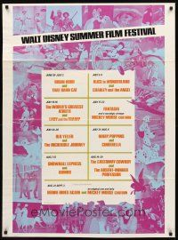 6c075 WALT DISNEY SUMMER FILM FESTIVAL 1sh '70s Lady & the Tramp, Fantasia, Old Yeller!