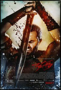 6k011 300: RISE OF AN EMPIRE March 7 advance DS 1sh '14 Sullivan Stapleton, sword & sandal!