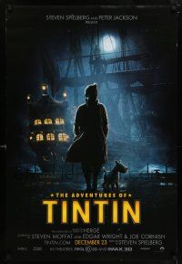 6k016 ADVENTURES OF TINTIN December 23 teaser DS 1sh '11 Spielberg's version of the Belgian comic!