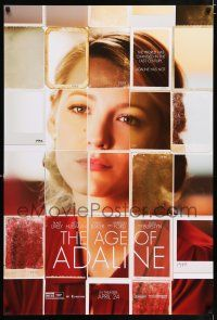 6k018 AGE OF ADALINE teaser DS 1sh '15 cool photograph collage of gorgeous Blake Lively!
