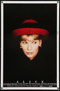 6k021 ALICE 1sh '90 Woody Allen, cool headshot portrait of Mia Farrow by Brian Hamill!