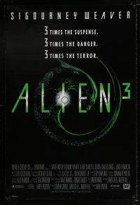 6k022 ALIEN 3 1sh '92 this time it's hiding in the most terrifying place of all!