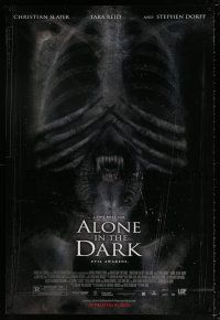 6k024 ALONE IN THE DARK advance DS 1sh '05 Christian Slater, Tara Reid, Uwe Boll directed!