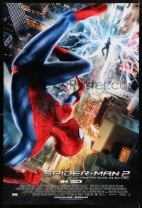 6k028 AMAZING SPIDER-MAN 2 int'l advance DS 1sh '14 Andrew Garfield, fights with Electro!