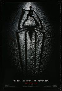 6k027 AMAZING SPIDER-MAN teaser DS 1sh '12 shadowy image of Andrew Garfield climbing wall!