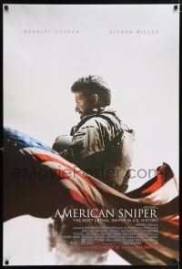 6k037 AMERICAN SNIPER advance DS 1sh '14 Clint Eastwood, Bradley Cooper as legendary Chris Kyle!