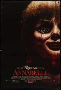 6k041 ANNABELLE advance DS 1sh '14 creepy horror image of possessed doll w/ bloody tear!