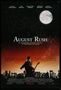 6k047 AUGUST RUSH advance DS 1sh '07 an incredible journey moving at the speed of sound!