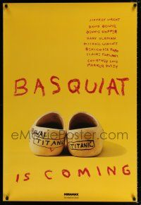 6k058 BASQUIAT teaser 1sh '97 Jeffrey Wright as Jean Michel Basquiat, directed by Julian Schnabel!
