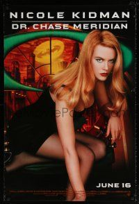 6k061 BATMAN FOREVER advance 1sh '95 sexy Nicole Kidman as Dr. Chase Meridian!