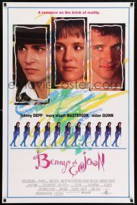 6k069 BENNY & JOON 1sh '93 Johnny Depp, Mary Stuart Masterson, Quinn, romance on the brink!