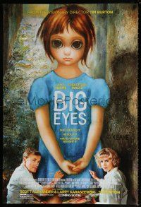 6k071 BIG EYES advance DS 1sh '14 cool image of Amy Adams and Cristoph Waltz painting together!