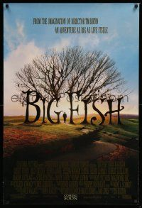 6k072 BIG FISH advance DS 1sh '03 Tim Burton, Ewan McGregor, Albert Finney, Helena Bonham Carter!