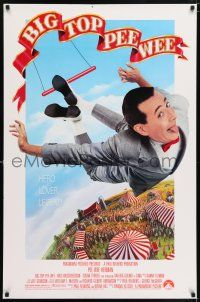 6k075 BIG TOP PEE-WEE 1sh '88 Paul Reubens is a hero, lover & legend, Barry E. Jackson art!