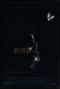 6k076 BIRD 1sh '88 directed by Clint Eastwood, biography of jazz legend Charlie Parker!
