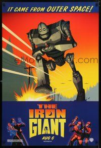 6k336 IRON GIANT advance DS 1sh '99 animated modern classic, cool cartoon robot artwork!