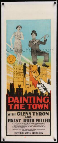 6p013 HOT HEELS linen long Aust daybill '28 Glenn Tryon & Patsy Ruth Miller are Painting the Town!
