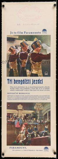 6p063 LIVES OF A BENGAL LANCER linen Czech 12x38 '35 different images of Gary Cooper in India!