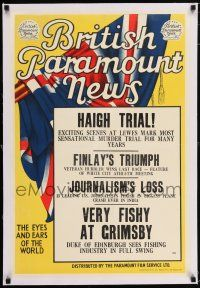 6p029 BRITISH PARAMOUNT NEWS linen #1919 English double crown '49 Haigh Trial, Journalism's Loss!