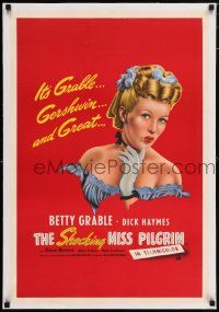 6p025 SHOCKING MISS PILGRIM linen English double crown '46 different art of sexy Betty Grable!
