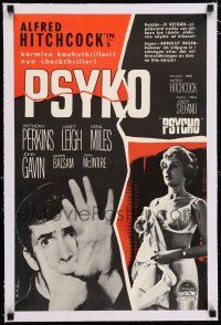 6p047 PSYCHO linen Finnish '60 sexy half-dressed Janet Leigh, Anthony Perkins, Alfred Hitchcock!