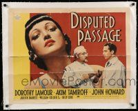 6p007 DISPUTED PASSAGE linen style B 1/2sh '39 Chinese Dorothy Lamour Akim Tamiroff & John Howard!