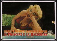 6p034 PRINCE & THE SHOWGIRL linen Italian photobusta '57 different c/u of sexiest Marilyn Monroe!