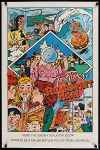 6p006 FAST TIMES AT RIDGEMONT HIGH linen 21x33 special '82 high school classic, Rod Dyer comic art!