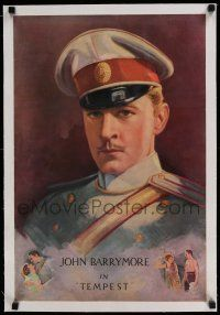 6p004 TEMPEST linen 16x24 special '28 incredible art of John Barrymore by Charles W. Pancoast!