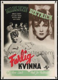 6p075 FLAME OF NEW ORLEANS linen Swedish '42 sexy Marlene Dietrich, Rene Clair, different Aberg art!
