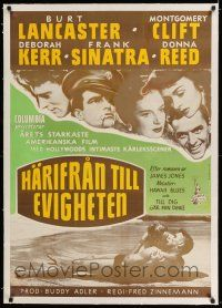 6p076 FROM HERE TO ETERNITY linen Swedish R60s Lancaster, Kerr, Sinatra, Reed, Clift, different!