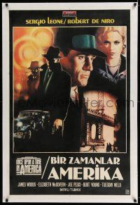 6p051 ONCE UPON A TIME IN AMERICA linen Turkish '84 Robert De Niro, Sergio Leone, cool Casaro art!