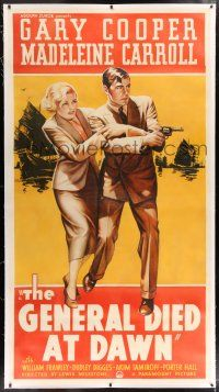 6r030 GENERAL DIED AT DAWN linen 3sh '36 Gary Cooper is a mercenary in China w/ Madeleine Carroll!