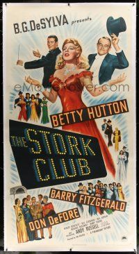 6r052 STORK CLUB linen 3sh '45 great art of pretty Betty Hutton + Barry Fitzgerald & Don DeFore!