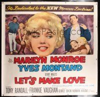 6r010 LET'S MAKE LOVE linen 6sh '60 three images of super sexy Marilyn Monroe & Yves Montand!
