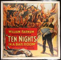 6r014 TEN NIGHTS IN A BARROOM linen 6sh '31 William Farnum's little girl wants him to sober up!