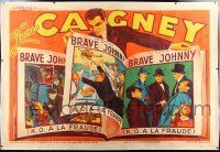 6r066 GREAT GUY linen French 2p '36 cool different art images of James Cagney in story book!