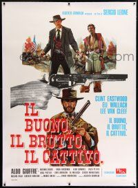 6r136 GOOD, THE BAD & THE UGLY linen Italian 1p R70s Eastwood, Van Cleef, Sergio Leone, different!