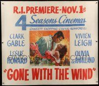 6r004 GONE WITH THE WIND linen 51x58 special R70s Terpning art of Gable & Leigh over burning Atlanta