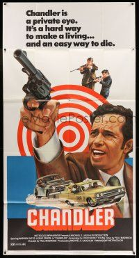 6w451 CHANDLER 3sh '71 private eye Warren Oates, a hard way to make a living, an easy way to die!