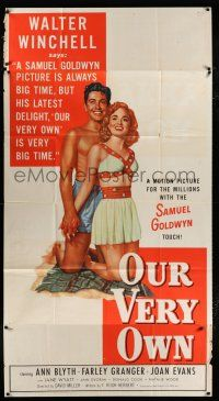 6w606 OUR VERY OWN style B 3sh '50 different art of sexy Ann Blyth & Farley Granger!