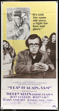 6w613 PLAY IT AGAIN, SAM int'l 3sh '72 Woody Allen, Diane Keaton, Jerry Lacy as Humphrey Bogart!