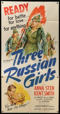 6w666 THREE RUSSIAN GIRLS 3sh '43 art of Anna Sten & sexy girls in uniform, ready for anything!