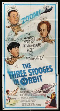 6w667 THREE STOOGES IN ORBIT 3sh '62 astro-nuts Moe, Larry & Curly-Joe meet the sexy Martians!